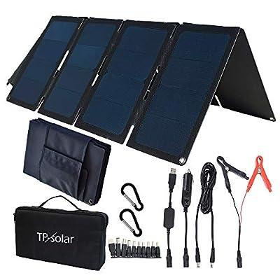 TP-solar 60W Portable Foldable Solar Panel Charger Kit Dual USB 5V + 18V DC Output for Portable Generator Power Station Cell Phone Tablet Laptop 12V RV Boat Car Battery : Garden & Outdoor