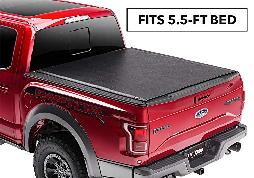 (TruXedo Lo Pro Soft Roll-up Truck Bed Tonneau Cover | 597701 | fits 15-19 Ford F-150 5'6