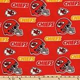 Fabric Traditions CN-138 NFL Fleece Kansas City Chiefs Toss Red/Yellow Yard