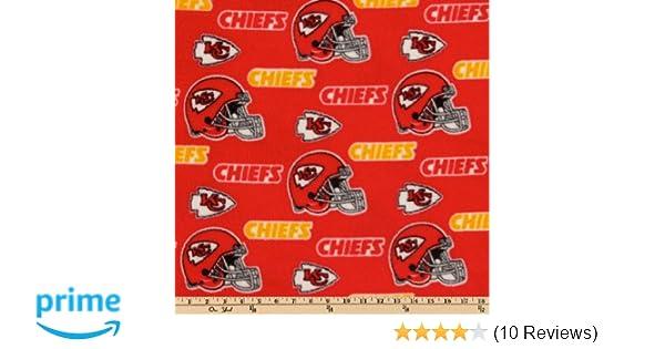 083ba0d5 Fabric Traditions CN-138 NFL Fleece Kansas City Chiefs Toss Red/Yellow  Fabric by The Yard,