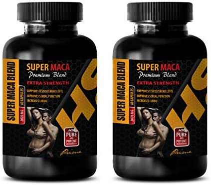 Men Sexual Supplement Enhancement – Super MACA Premium Blend – Extra Strength – maca and l arginine – 2 Bottles 120 Capsules