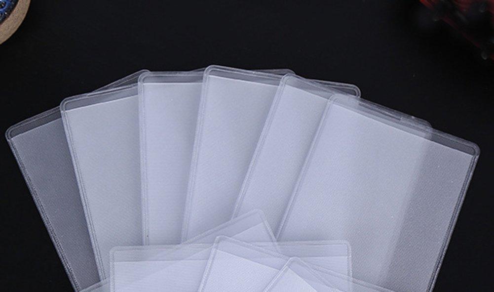 cosanter trasparente verticale Carta Haltern supporto della carta 100/pezzi targhetta nome del titolare della carta in plastica per proteggere