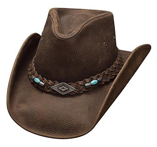521d259d9fc Montecarlo Bullhide Hats ROYSTON Top Grain Leather Western Cowboy Hat  (XLarge)