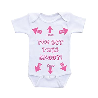 c877a6173c67 Winsummer Newborn Baby Girls Clothes Short Sleeve Jumpsuit Romper Playsuit  You Got This Daddy Bodysuit Outfits