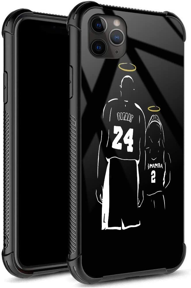 iPhone 11 Case,Black Mamba 06 Pattern Tempered Glass iPhone 11 Cases for Girls Men Boy [Anti-Scratch] Fashion Pattern Design Cover Case for iPhone 11(6.1inch)