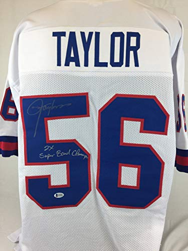 (Lawrence Taylor Autographed Signed 2X SB Champs Autographed Signed Jersey Signature - Beckett Authentic)