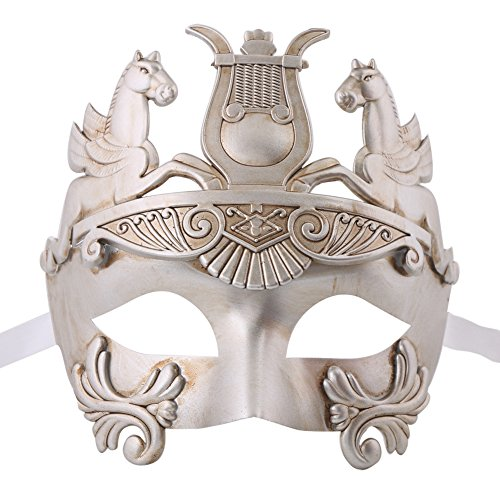 Roman Holiday Costume Ideas (Xvevina Greek & Roman Style Men Venetian Metallic Mask For Masquerade / Party / Ball Prom / Mardi Gras / Wedding / Wall Decoration)