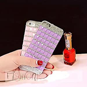LCJ Profusion Colour with Diamond Hard Back Cover for iPhone 5 / iPhone 5S (Assorted Colors) , Purple