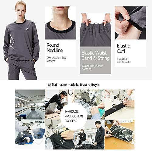 KEBILI Sauna Suit Women Weight Loss Gym Fitness Exercise Workout Sweat Training Hot Fat Men 5