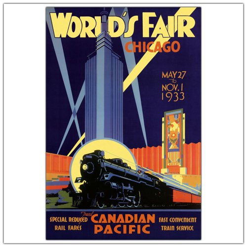 Chicago World's Fair by Norman Fraser, 24x32-Inch Canvas Wall Art