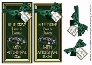 Verde Aftershave cumpleaños dl de felicitación topdown Topper por Ann-Marie Vaux