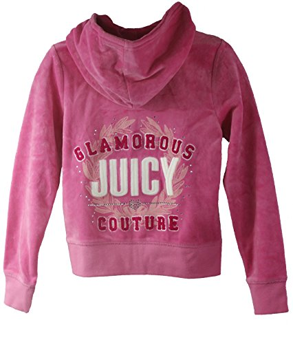 Juicy Couture Girls 'Glamorous Juicy Couture' Tracksuit, Pink Hoodie and Pants (Small (4-5))