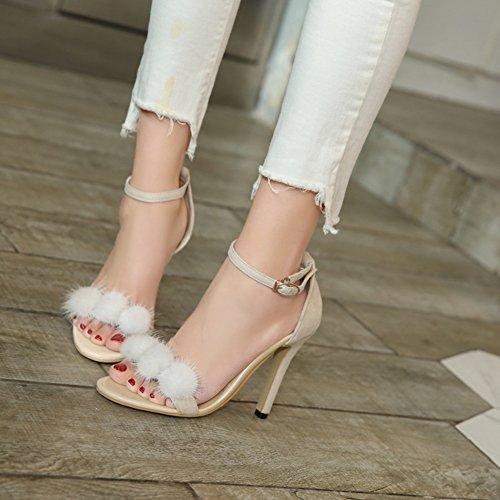 de Hebilla 2018 de de del tacón Sexy Cuero Sandalias Dedo Zapatos de de de sintético Verano Zapatos Mujer Abierto pie tacón Confort Aguja con Zapatos Alto de de Cordones d7nHnwqX