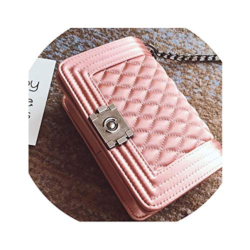 Luxury Handbags Women Bags Shoulder Bags Chain Small Bags For Women,Pink,22Cm X 8Cm X15Cm