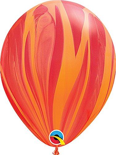 PIONEER BALLOON COMPANY 91540 SUPERAGATE - RED ORANGE RAINBOW, 11