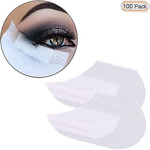 Hisight1 packets of 50 pair White Color Disposable Non-woven EYE PADS Eye Lip Patch Pad Sticker Tapes False Eyelash Eyelash Tinting & Lash Extension Makeup Tool Lip Powder Holder (100pcs)
