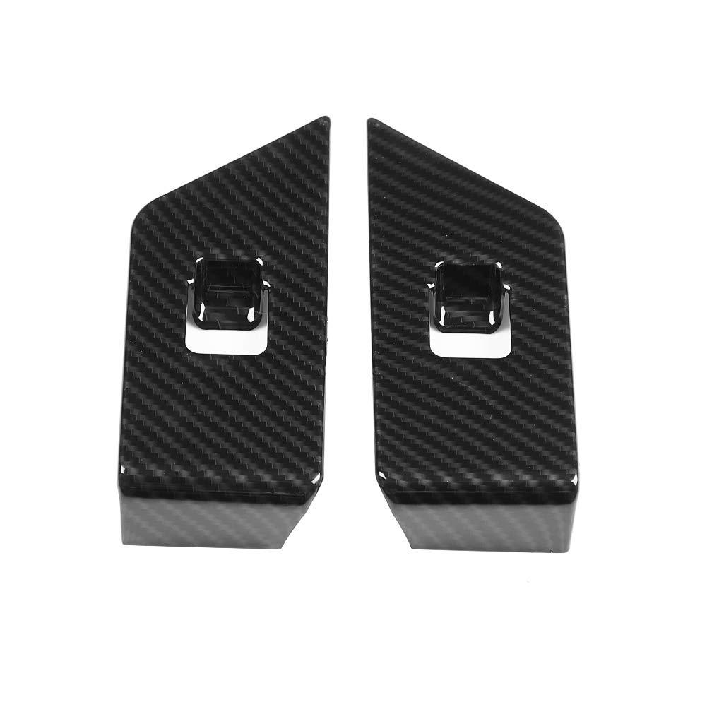 Hlyjoon 4pcs Alzacristallo Trim Cornice Copertura finestrino per veicolo auto Finestrino in fibra di carbonio Finestrino sinistro per interruttore per Evoque 2012-2017
