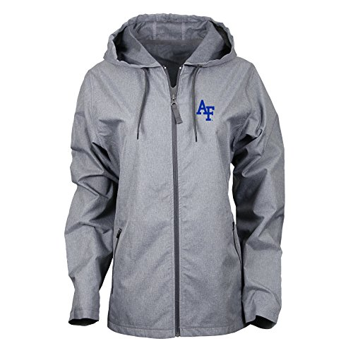 Ouray Sportswear NCAA Air Force Falcons Women's Venture Jacket, Charcoal Heather, Large (Charcoal Falcons Force Air)