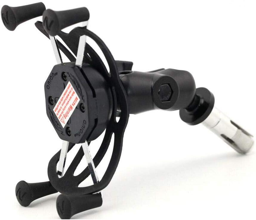 Motorcycle Fork Stem Mount Grip Mount Phone GPS Navigation Cradle Holder for Suzuki GSXR 600//750//1000 GSX 1300R Hayabusa,Yamaha YZF R1 R6,BMW S1000RR HP4,Honda CBR250R//300R//600RR