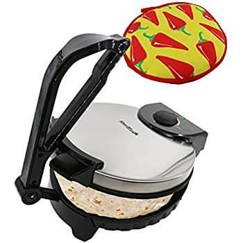 10inch Roti Maker by StarBlue with FREE Roti Warmer - The automatic Stainless Steel Non-Stick Electric machine to make Indian style Chapati, Tortilla, Roti