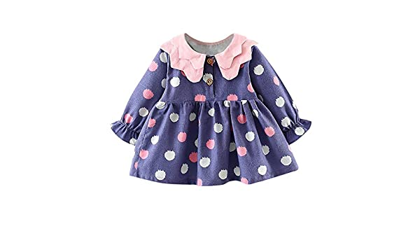 JYC Vestidos Bebe Niña, Vestido de niñas, Recién Nacido Infantil Bebé Niña Largo Manga Punto Princesa Vestir Ropa Trajes: Amazon.es: Ropa y accesorios