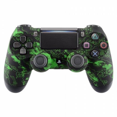 PS4 Custom UN-MODDED Controller Exclusive Unique Designs - Multiple Designs Available CUH-ZCT2U (Biohazard Green)