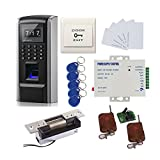 DIY Bio Fingerprint + Password +RFID Biometric Access Control & Biometric Door Lock Entry Kit (ANSI Strike Lock)+Remote Controller