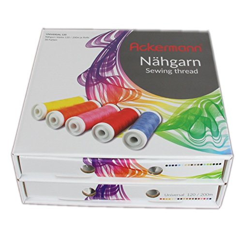 Qualitäts-Nähmaschinengarn Nähgarn-Box mit 36 Farben