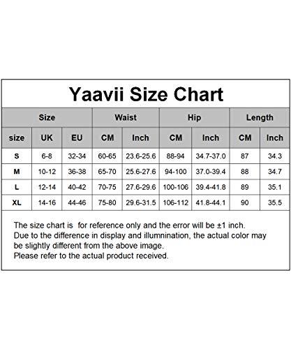 Yaavii Legging de sport pour femme – Long – Opaque – Pantalon de yoga – Pantalon de sport streetwear – Avec taille haute…