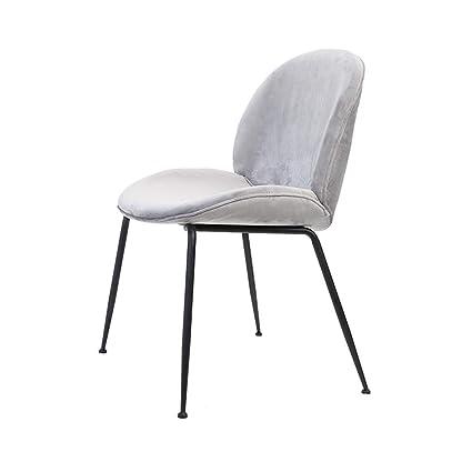 Amazon.com - Dining Chairs Black Metal Legs Bedroom ...