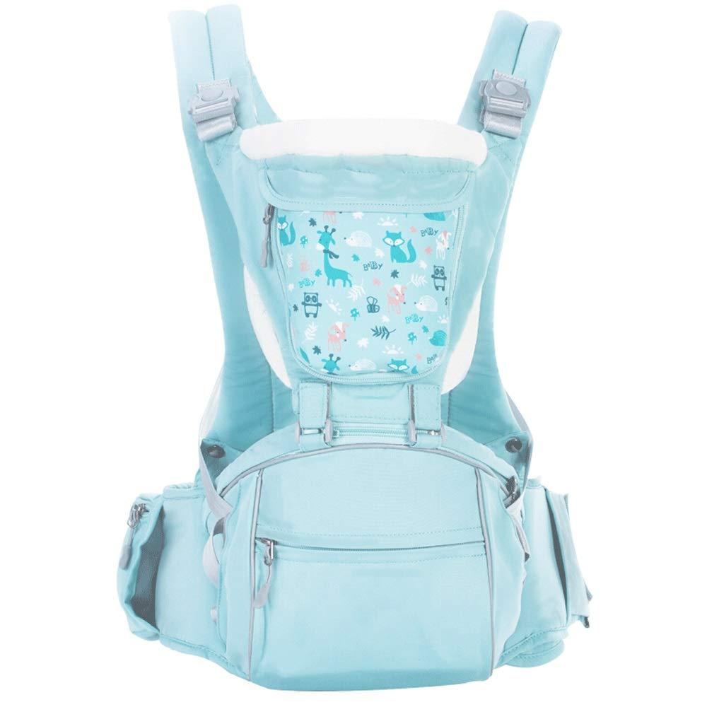 Baby-Riemen-Front, die den Taillenschemel des Babys vier Jahreszeiten des Universalmultifunktionskinderkinder hält (Farbe : Blau)