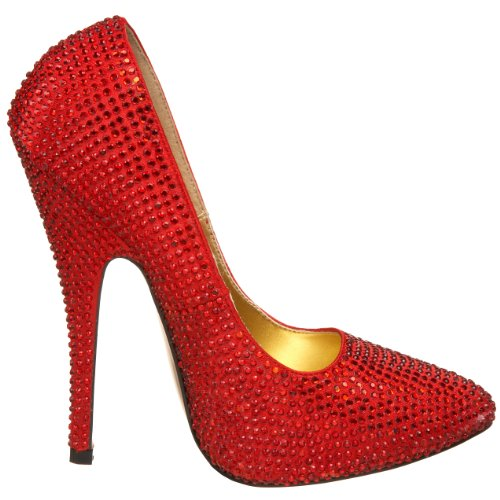 Bordello Red Rhinestones Escarpins Sca620r r Femmes BfwTH