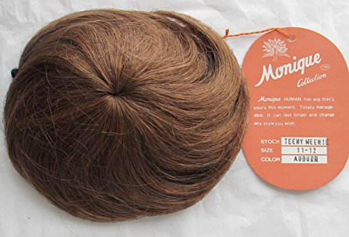[MONIQUE Craft 100% HUMAN Hair DOLL WIG Style TEENY WEENIE Fits Size 11