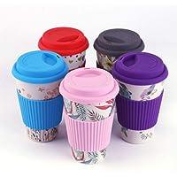 dfg Reusable Bone China Ceramic Travel Mugs Tea