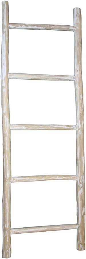 LioLiving®, Toallero/escalera de teca decorativa, blanqueada (#400188): Amazon.es: Electrónica
