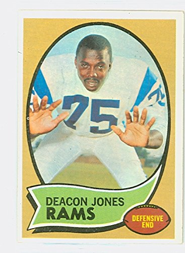 1970 Topps Football 125 Deacon Jones Los Angeles Rams Excellent to Mint