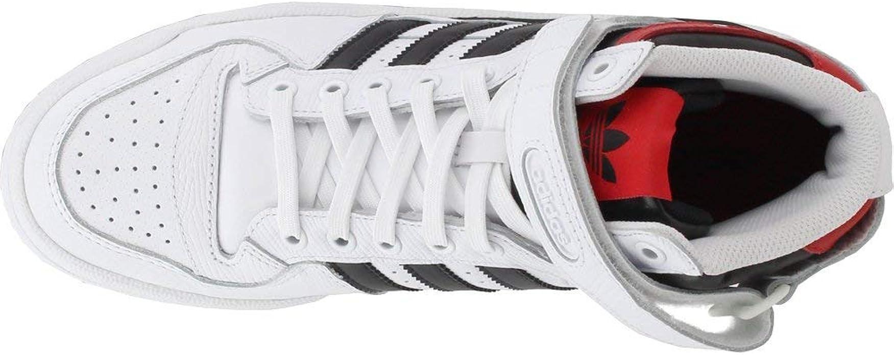adidas Originals - Forum Mid Hombre , Blanco (negro, (White/Black/Scarlet)), 15 D(M) US: Amazon.es: Zapatos y complementos
