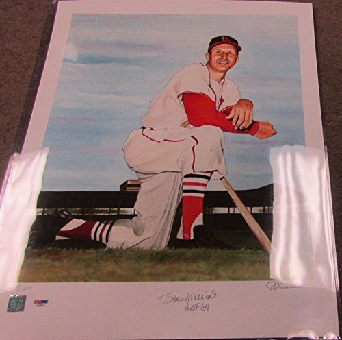 Stan Musial Autographed Photo - Stan Musial autographed Lithograph photo PSA / DNA COA