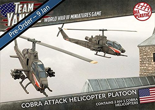Team Yankee - Us Ah-1 Cobra Attack Helicopter Platoon (2) (15mm Scale) (tubx05) (Helicopter Ah1 Cobra)