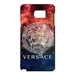 Unique Style 3D Hard Plastic Versace Logo Phone Case For Samsung Galaxy Note 5_blue