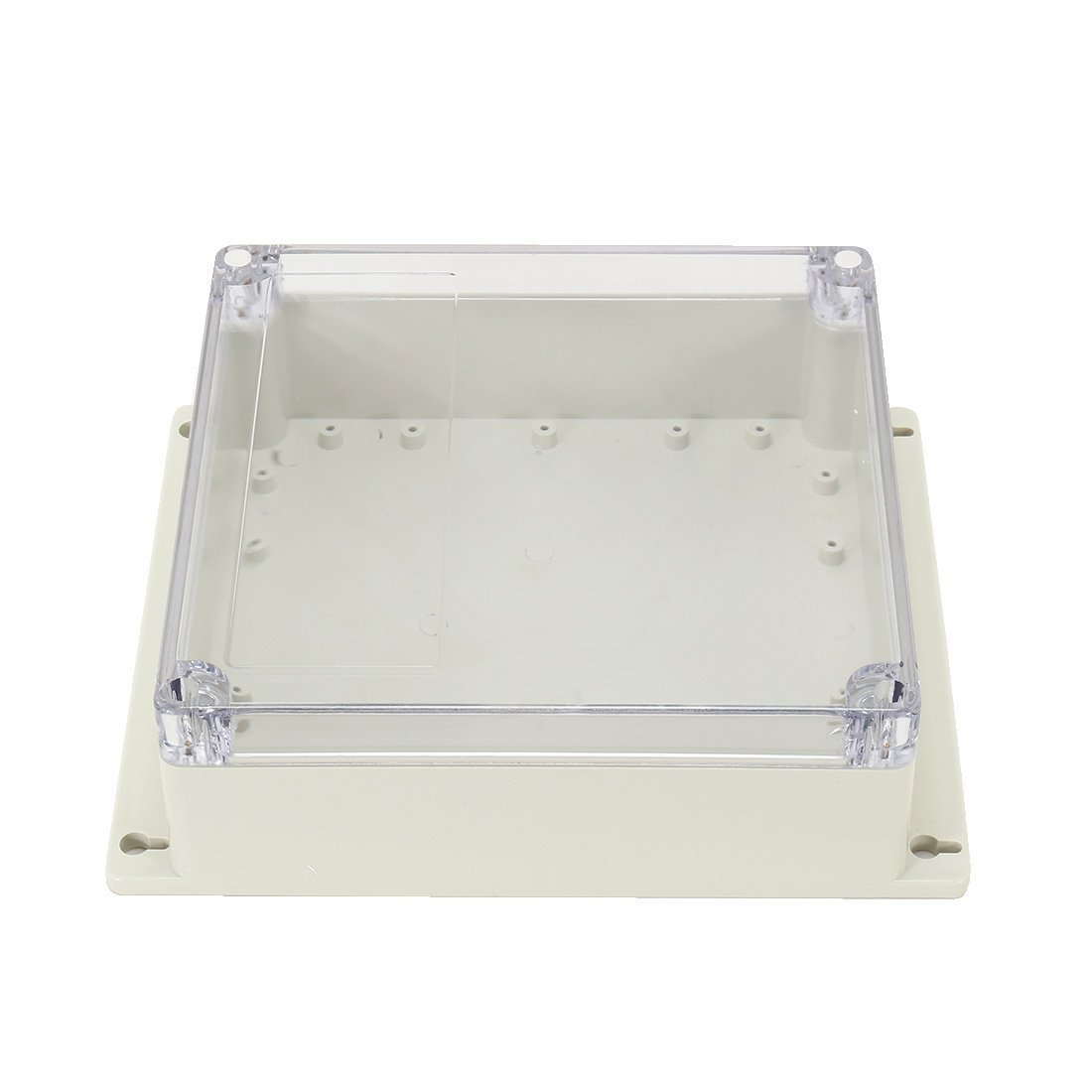SODIAL 7.6 inch x7.4 inch x2.8 inch (192mmx188mmx70mm) ABS Junction Box Universal Project Enclosure w PC Transparent Cover