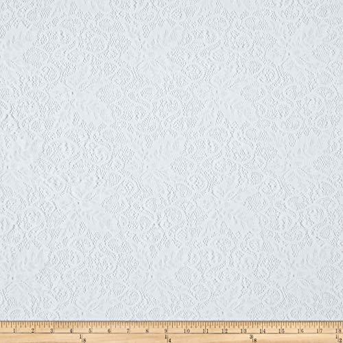Telio Lolita Nylon Stretch Corded Lace White, Fabric by the Yard