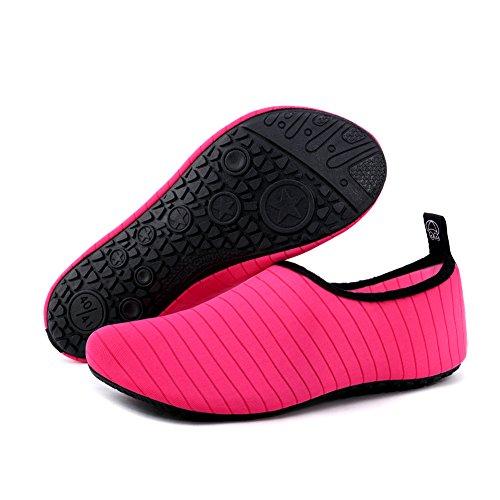 Scarpe Da Donna Da Donna Scarpe Da Spiaggia A Piedi Nudi Scarpe Da Spiaggia A Secco Quick-dry Per Lo Sport Acquatico Surf Rosso