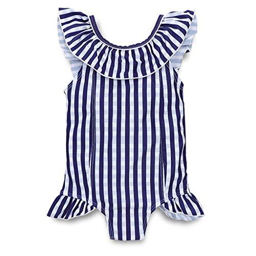 Hunputa Little Girls Ruffle Strap One Piece Swimsuit Swimwear Bathing Suit Romper ()