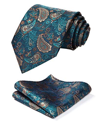 HISDERN Paisley Handkerchief Classic Necktie product image