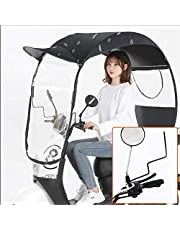 AXQQ Universele paraplu zonnescherm regenhoes, volledig ingesloten elektrische motorfiets paraplu luifel, universele motor scooter paraplu mobiliteit zonnescherm regenhoes, UV-bescherming bescherming