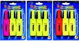 Fluorescent Highlighters - 3 pack 48 pcs sku# 1455128MA