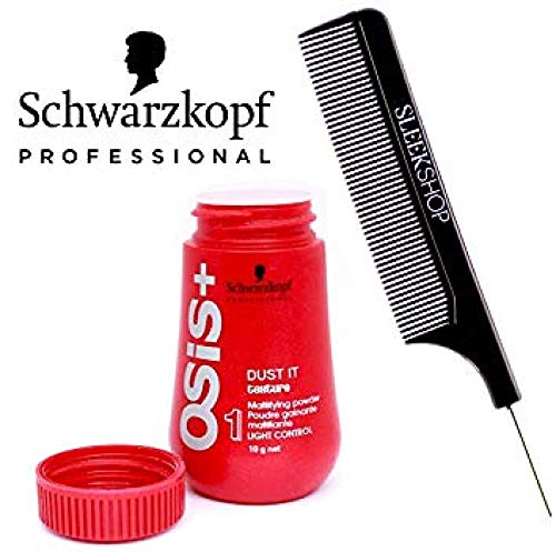 Schwarzkopf OSiS Dust It - Mattifying Powder (with Sleek Steel Pin Tail Comb)(0.35 oz)