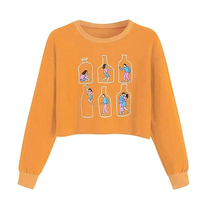 ASHOP Ropa Mujer, Sudaderas Mujer Tumblr largas Blusas Elegantes Tallas Grandes Tops Deportivo: Amazon.es: Ropa y accesorios