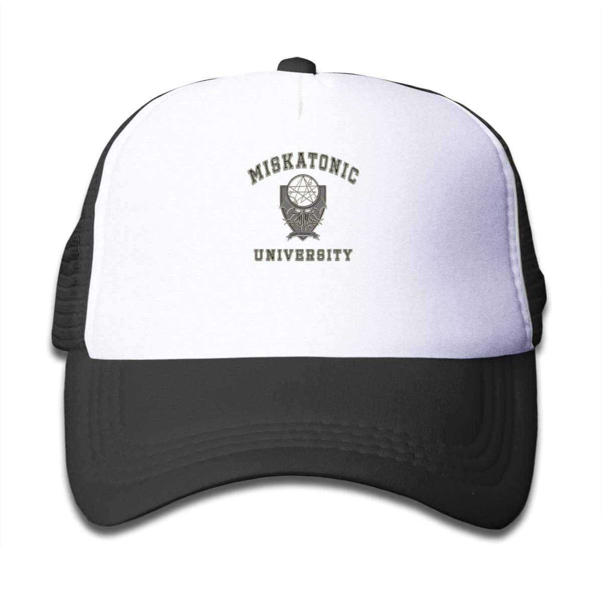 ETXHU Black Baseball Cap-Miskatonic University Boys Caps School Snapback Trucker Hats